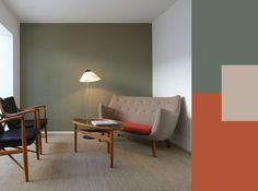 Arredare le pareti con il colore: il verde oliva e i suoi abbinamenti.