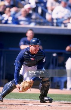 Rick Wilkins #2 of the Seattle Mariners in action during a Spring Training game against the San Diego Padres at the Peoria Stadium in Peoria, Arizona. The Padres defeated the Mariners 8-0. Mandatory Credit: Jeff Carlick /Allsport