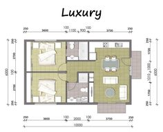 converting a double garage into a granny flat ile ilgili görsel sonucu The Plan, How To Plan, Small House Plans, House Floor Plans, Granny Flat Plans, Plan Chalet, Converted Garage, Cottage Plan, Apartment Plans