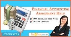 Financial accounting assignment is mostly regarded as the toughest style of assignment. There are numerous that make the assignment very much tough.