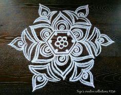 22 Ideas Tattoo Flower Big Colour For 2019 Rangoli Patterns, Rangoli Ideas, Rangoli Designs Diwali, Kolam Rangoli, Easy Rangoli, Peacock Rangoli, Padi Kolam, Rangoli Designs Latest, Simple Rangoli Designs Images