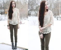 http://www.awwdore.com/collections-of-lace-and-crochet/floral-waves-crochet-top  #Spredfashion