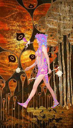 Tarot 0 - The Fool by Casimir Lee Psychedelic Art, Tarot The Fool, Sara Fabel, Tarot Major Arcana, Illustration Art, Illustrations, Arte Horror, Art Reference, Character Art