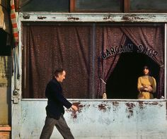 Fred Herzog (b.1930, German) - Bargain Shop, Canada, 1962 via DODGE & BURN