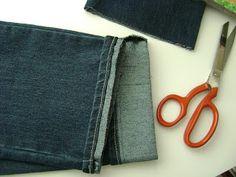 Tutorial - Barra de Calça Jeans Original... ~ Vanessa Maurer