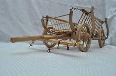 cart of wood miniature