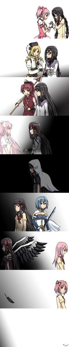 Akemi Homura by AdrenaVeris Homura timeline of life and friends and memories