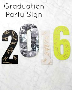 """Graduation Party Sign (and Guestbook) 