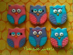 Owl Sugar Cookies 1 Dozen by ParadiseSweets on Etsy Owl Sugar Cookies, Buttery Sugar Cookies, Fancy Cookies, Iced Cookies, Royal Icing Cookies, Sugar Cookies Recipe, Custom Cookies, No Bake Cookies, Cupcake Cookies