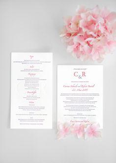 Letterpress-Hochzeitspapeterie in Rosa und Lavendel bei www.weddingstyle.de   Foto: Sabine Lange