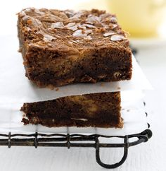 Peanut butter's deliciously creamy texture and nutty flavour is far more versatile than lunchbox sandwiches. Try our recipe for decadent Peanut Butter Recipes, Chocolate Brownies, Sandwiches, Sweet Treats, Gluten Free, Food And Drink, Baking, Desserts, Christmas