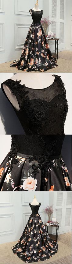 Little Cute | Stylish A line lace long prom dress,evening dress,formal dresses | Online Store Powered by Storenvy