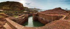 Seacliff · Small harbor at the left end of Seacliff Beach overlooking Tantallon Castle and Bass Rock © Martin Ziaja