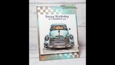 Unity Quick Tip: Masculine Background Card Birthday Cards, Happy Birthday, Distress Markers, Unity Stamps, Masculine Cards, Craft Videos, Card Making, Paper Crafts, Scrapbook