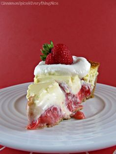 Strawberry Cream Cheese Pie - I'm not too sure about the strawberry part but I'm pinning this for the cream cheese filling probably use blueberries, cherries or peaches instead.