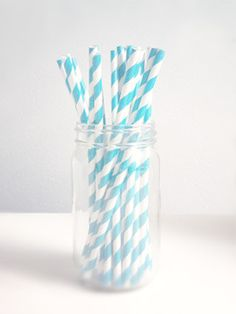 Paper Striped Straws - Pack of 25 via Etsy Is it weird that drinking out of a striped straw is on my bucket list?