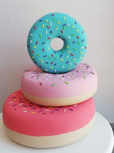 This listing is for donut only, the picture with other things is for example. Different sizes of donuts are available: Donuts are made of styrofoam. Donut Birthday Parties, Birthday Cake, Donut Party Supplies, Giant Donut, Visual Merchandising, Donut Decorations, National Donut Day, Pastry Shop, Candy Shop