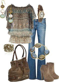 ♥  love, love, love this. Would wear with brown or beige slacks to work.  Need lower heels too.