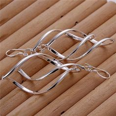 Highly-Popular-in-2017-Big-Dangle-Earrings-For-Women-Long-Drop-Silver-Color