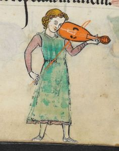 eadfrith:  A Medieval Musician from The Rutland Psalter - folio 48v. Playing a early type of violin known as The Vielle. Manuscript made in England, possibly in London circa AD 1260 Add MS 62925: Images from the British Library manuscript website. http://www.bl.uk/manuscripts/FullDisplay.aspx?ref=add_ms_62925