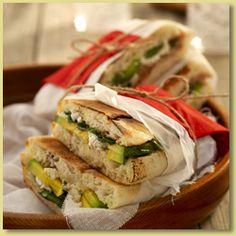 Avocado, Fetta & Baby Spinach on Turkish Bread Recipe - Avocados Australia