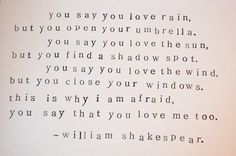 This is why I'm afraid when you say you love me  Follow best love quotes for more great quotes!