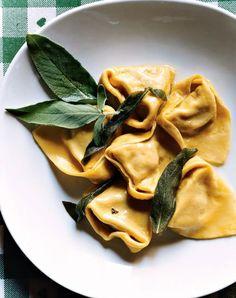 Il Ristorantino di Colomba in Italy serves Ferrara's traditional cappellacci di zucca, handmade pasta stuffed with squash. www.hotelroyalplaza.it