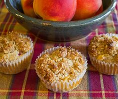 Peach and Oatmeal Muffins + 28 Hearty and Filling Breakfast Recipes