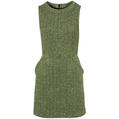 Tweed shorts f a s h i o n s t y l e ❤ liked on Polyvore featuring dresses, tweed dress and green dress