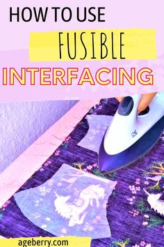 Looking for tips on what is interfacing for beginner sewing projects and how to fuse interfacing properly? In this video sewing tutorial you will learn what is interfacing, which side of the interfacing is fusible, is fusible fleece the same as interfacing, how do you clean fusible interfacing from an iron. Check out this interfacing guide to see what fusible interfacing problems you may have, what types of interfacing are available Sewing For Beginners Diy, Sewing For Dummies, Sewing Basics, Sewing Hems, Sewing Elastic, Sewing Diy, Easy Sewing Patterns, Sewing Tutorials, How Do You Clean