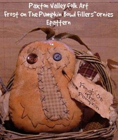 Free pattern--Frost On The Pumpkin Bowl Fillers