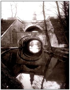 Eugène Atget / Arches of 'Belles Fontaines' bridge at Juvisy, Seine et Oise, France / Opus-Mirabilis