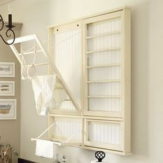 Drying Rack with Hanger Rail- I think papa could help me make something like this