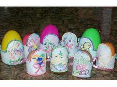 Vintage Easter Egg Holders Version 1 Machine Embroidery Designs http://www.designsbysick.com/details/veh1