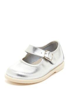 Metallic Silver Baby Shoe.