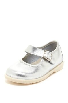 Metallic Silver Baby Shoe.