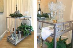 Easy diy Bar Cart    so you and your guests will be    sipping pretty this holiday season!                  Here's what you'll need:     ...