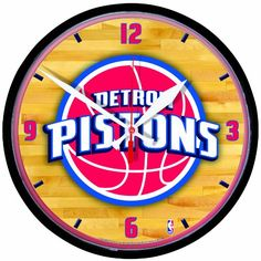 NBA Detroit Pistons Round Clock ** You can find more details by visiting the image link.