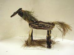 Great horse sculpture, inspired by the work of artist, Deborah Butterfield!