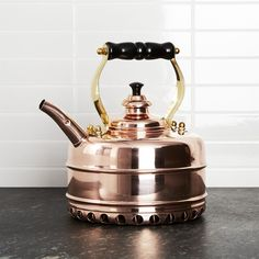 Simplex Heritage No. 3 Copper Gas Tea Kettle - Crate and Barrel