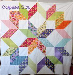 Carpenter Star Quilt Top..Pieced with Veranda by Amanda Murphy Layer Cake