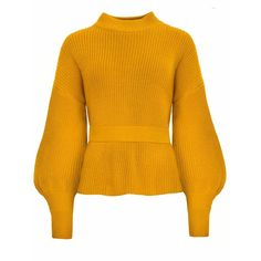 Laurel Mustard Open Back Belted Sweater (2.780 CZK) ❤ liked on Polyvore featuring tops, sweaters, mustard top, open back tops, mustard yellow sweater, orange top and open-back sweaters
