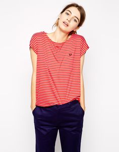 Image 1 ofFred Perry Striped T-Shirt