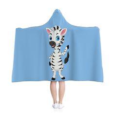 Little Zebra Hooded Blanket - Blue by MbiziHome on Etsy Blue Blanket, Hooded Blanket, Pet Urine, Favorite Color, Blankets, Hoods, Summer Dresses, Trending Outfits, Handmade Gifts