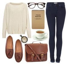 """""""Brown ensemble"""" by hanaglatison ❤ liked on Polyvore featuring Marc by Marc Jacobs, H&M, Topshop, women's clothing, women's fashion, women, female, woman, misses and juniors"""