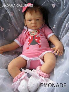 Pink Lemonade life like reborn baby created by Andama Dujon at Andama Galleries