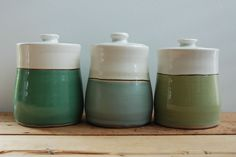 Love these jars by Laura Cooke Ceramics. http://www.cookeceramics.com/