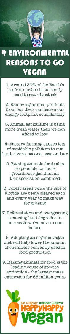 Environmental reasons to go vegan.