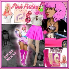 """""""Totally Fearless with Pink Friday Nicki Minaj"""" by lizart on Polyvore"""