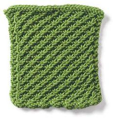 daisy stitch pattern - lays flat, daisy stitch appears on only one side, reverse side shows a nice knot pattern